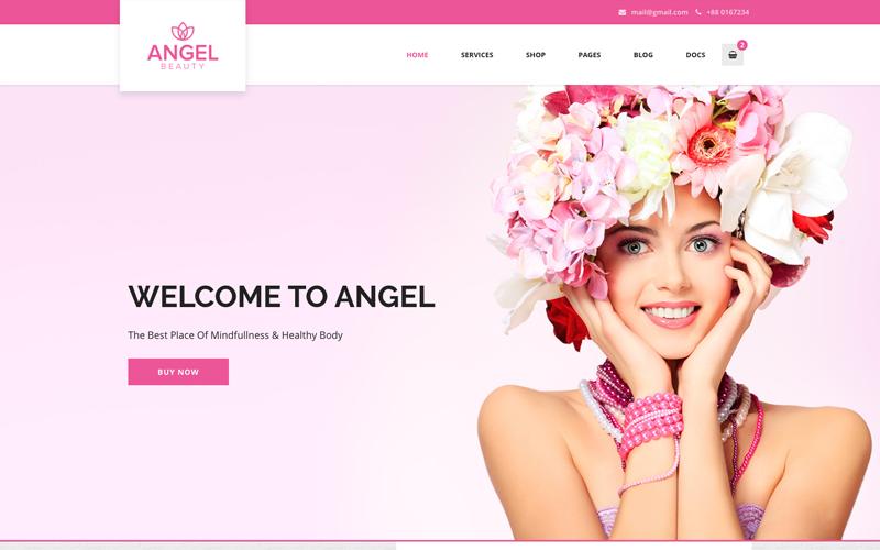 Angel - Beauty Salon Store Motyw WooCommerce WordPress Elementor