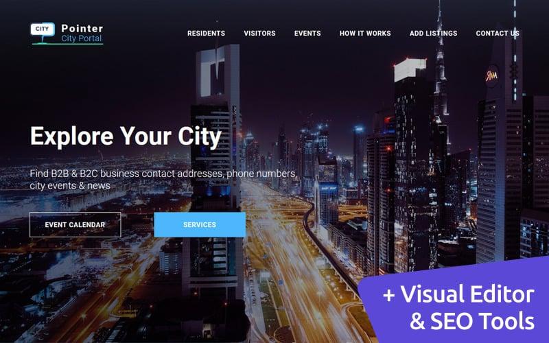 City Portal Premium Moto CMS 3 Template