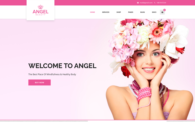天使-美容院商店WooCommerce WordPress Elementor主题