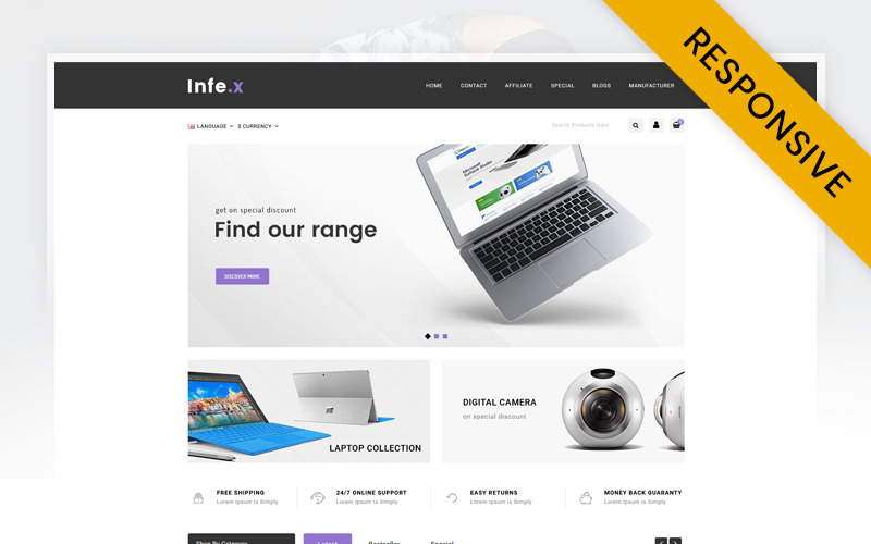 Infex - Electronics Store OpenCart Template