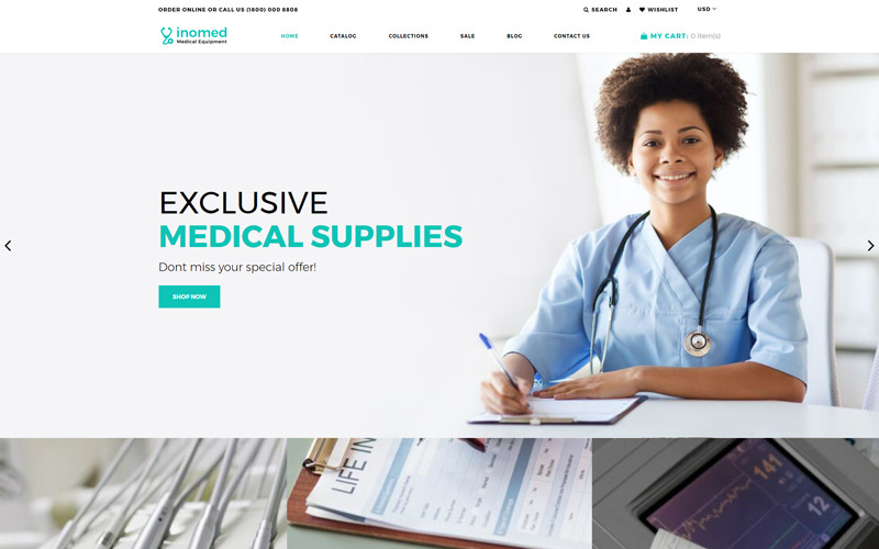 inomed - Clear Medical Equipment Online Store Shopify Theme