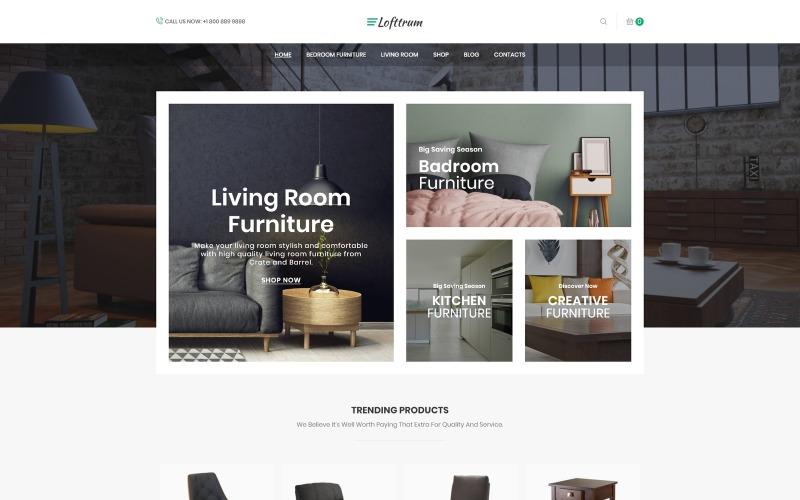 Lofttrum - Boutique en ligne de meubles Thème Elementor WooCommerce