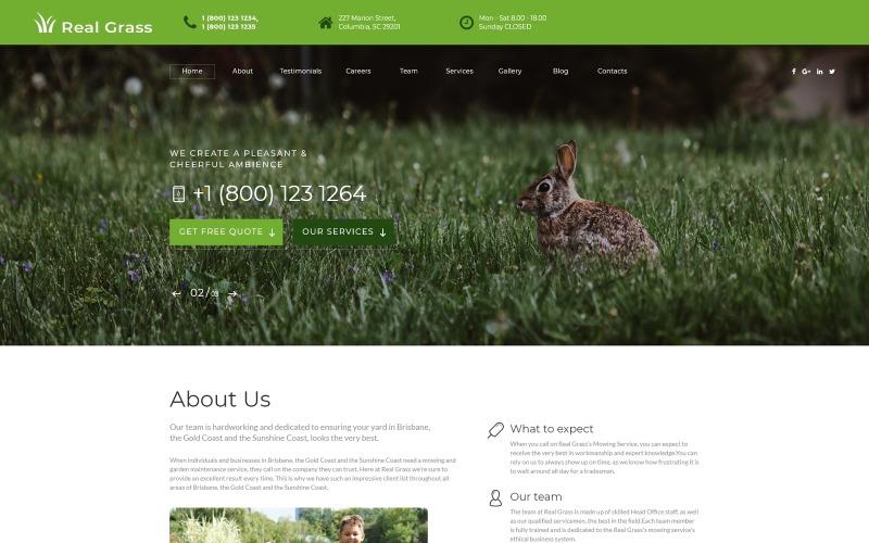 Real Grass - HTML-шаблон целевой страницы для ухода за садом