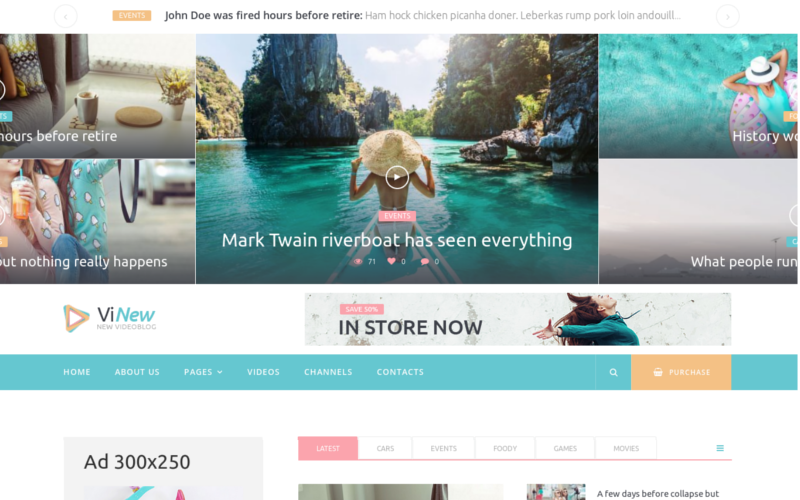 Vinews - тема WordPress для современного медиа-портала
