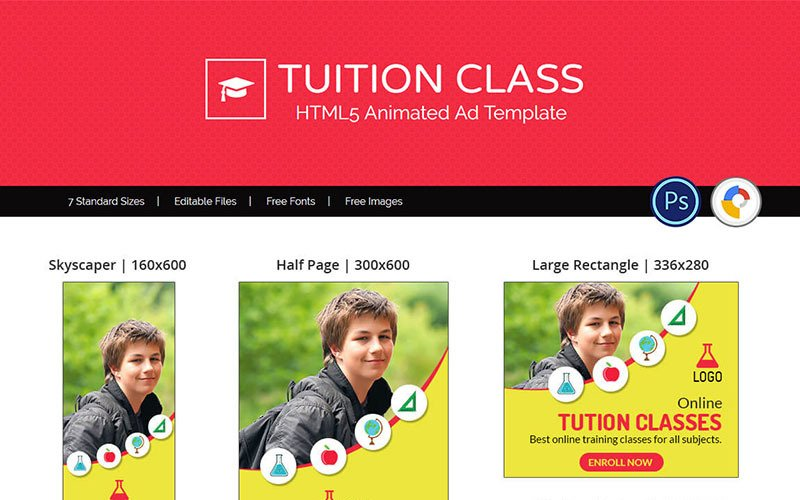 Education & Institute   Tuition Class Ad Animated Banner
