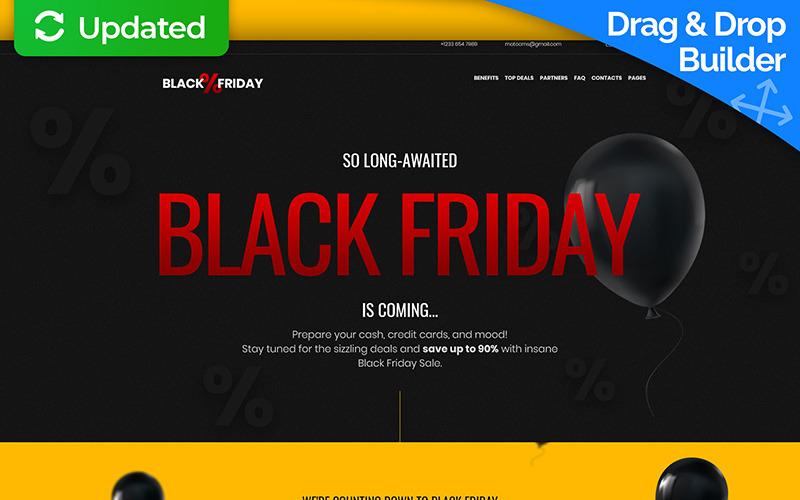 Plantilla de página de destino de Black Friday