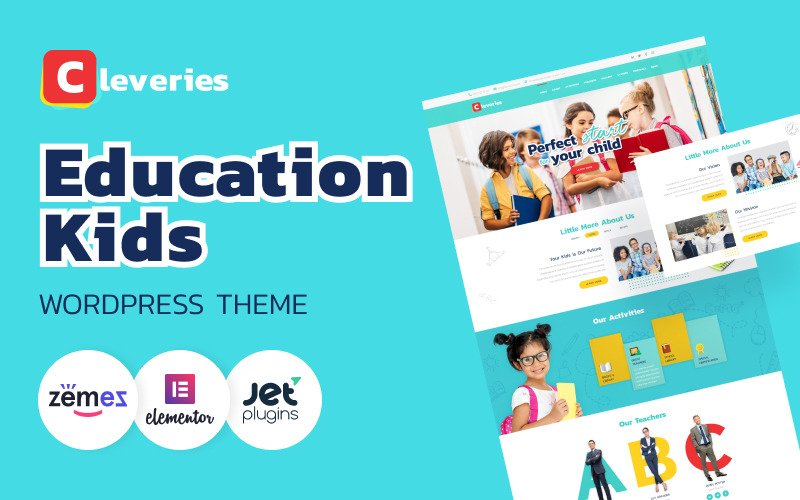 Cleveries - Thème WordPress Elementor Education Kids