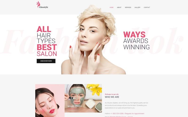 Glosstyle - WordPress тема Elementor для салона красоты