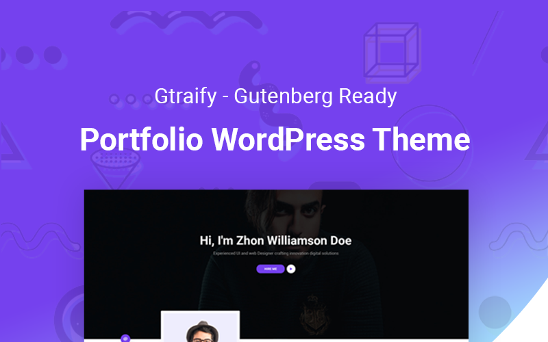 Gratify - готовая тема WordPress для портфолио Gutenberg