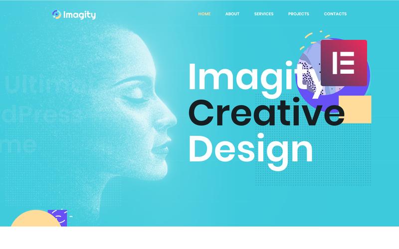 Imagity - творческая минимальная тема WordPress Elementor