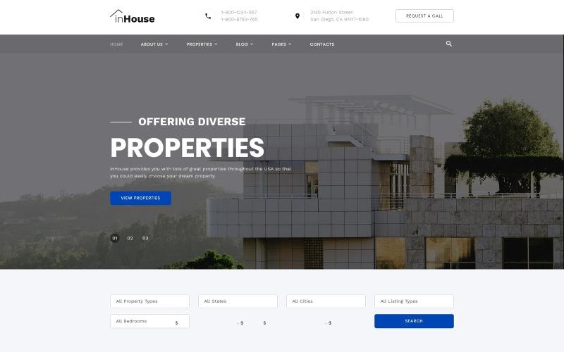 inHouse - Plantilla de sitio web HTML multipágina de bienes raíces