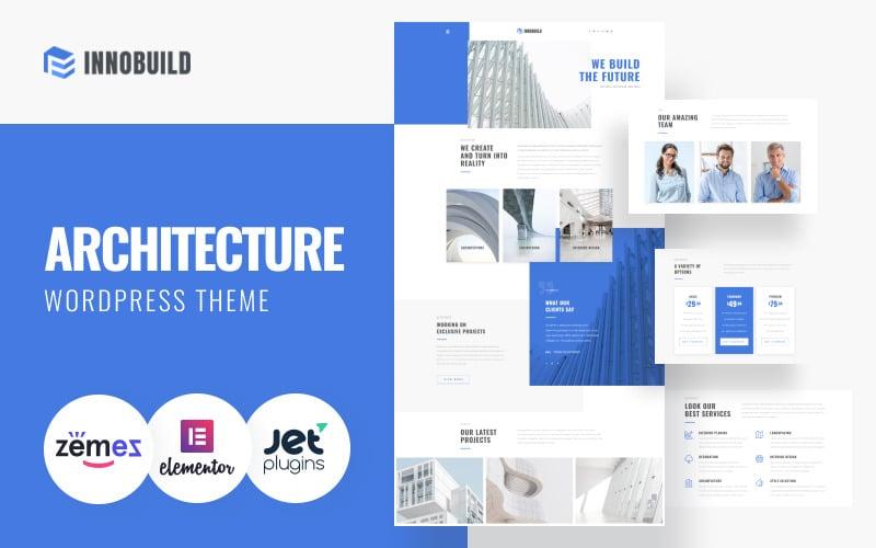 Innobuild - тема WordPress для надежного и надежного архитектурного дизайна
