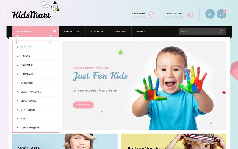 Kids Mart Shop OpenCart Template