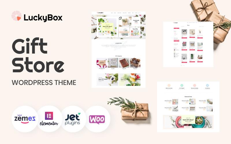 LuckyBox - Тема WooCommerce для магазина подарков Elementor