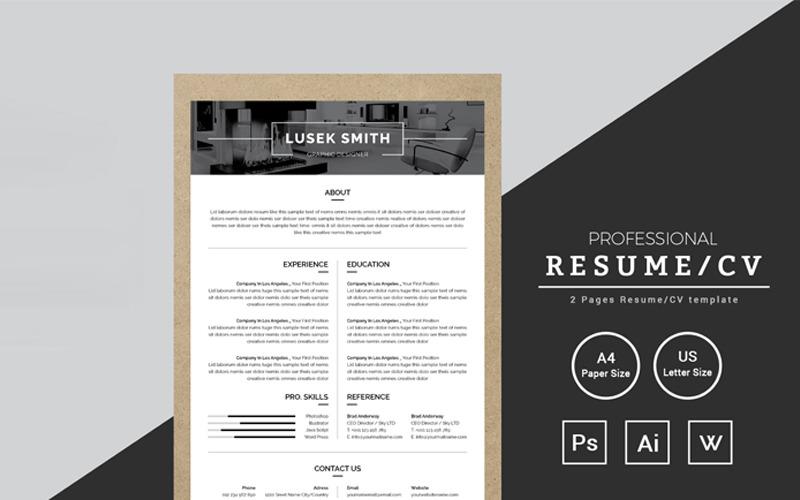 Lusek Smith Graphic Designer Resume Resume Template