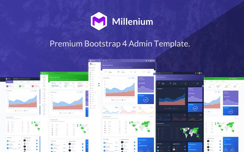 Millenium - Bootstrap 4 Dashboard Admin Template