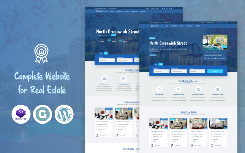 RealAX - Premium Real Estate WordPress Theme