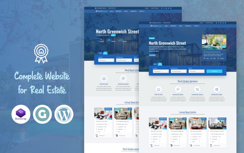 RealAX - тема WordPress премиум-класса по недвижимости