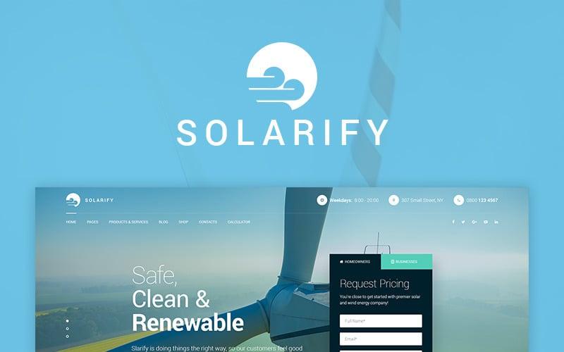 Solarify - Alternative Eco Energy WordPress Theme