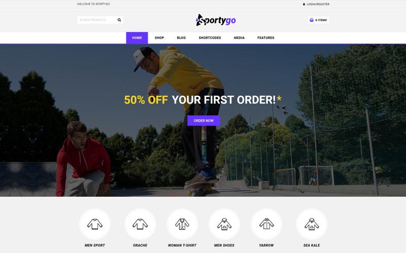 SportyGo - Sportgeschäft WooCommerce Theme