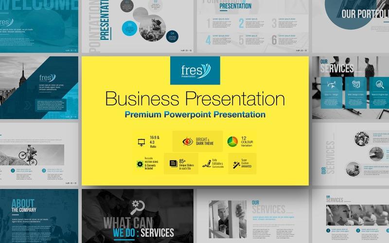 Fresy | Plantilla de PowerPoint - negocios