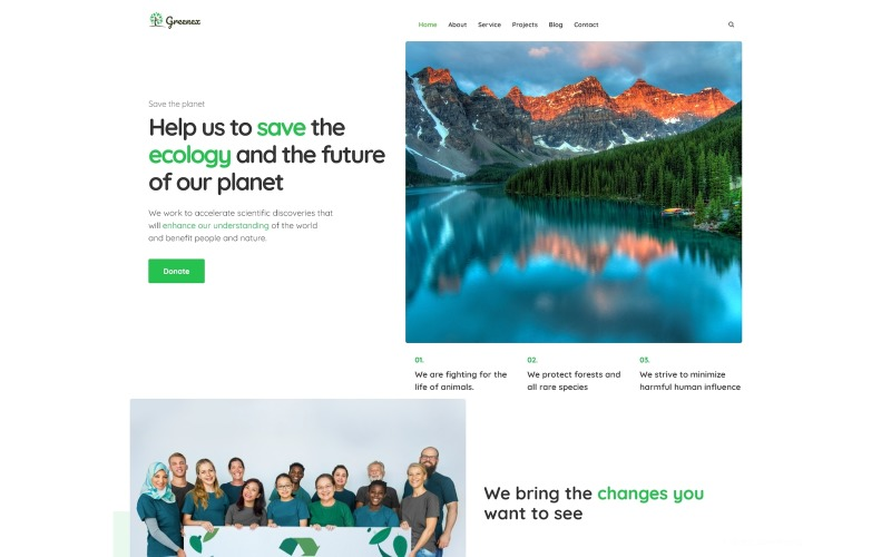 Greenex - Environment Multipurpose WordPress Elementor Theme