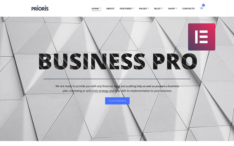 Prioris - Poradenská agentura WordPress Elementor Theme