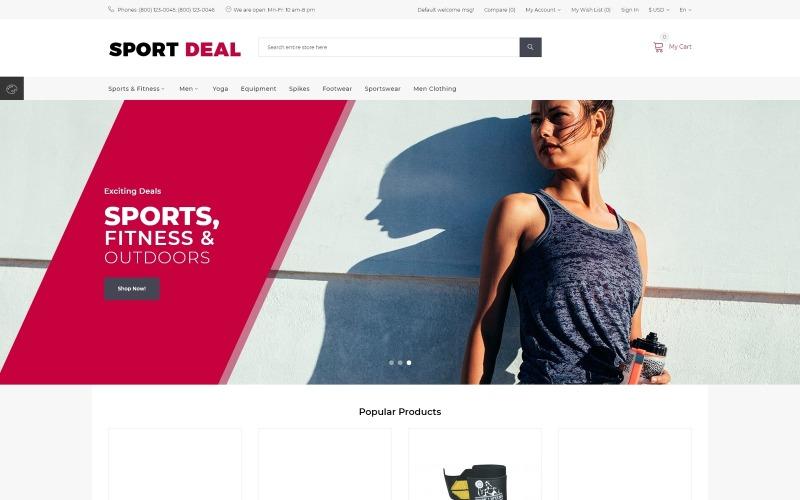 Шаблон OpenCart Sport Deal