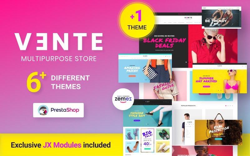 Vente - Tema de PrestaShop para el diseño de prendas multitienda