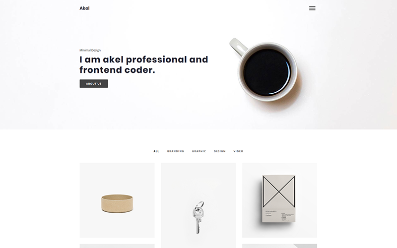 Akel - Minimal Portfolio Website Template