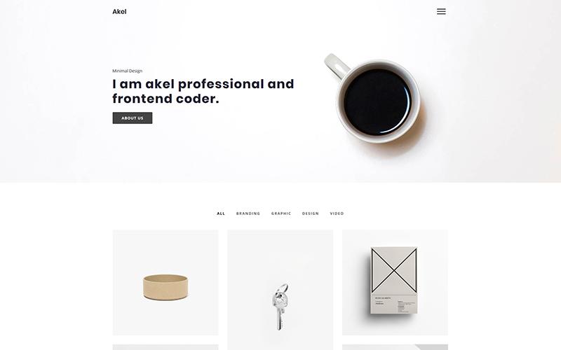 Akel - Modèle de site Web de portefeuille minimal