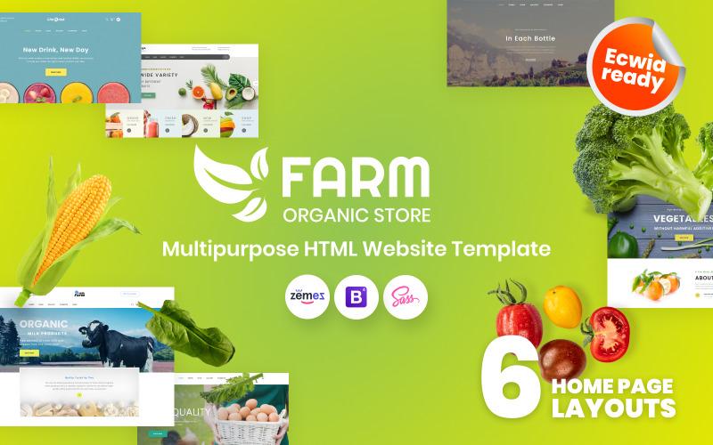 Ferme - Modèle de site Web HTML5 de ferme biologique