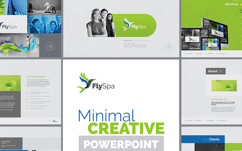 FlySpa   Modelo de PowerPoint de negócios polivalentes
