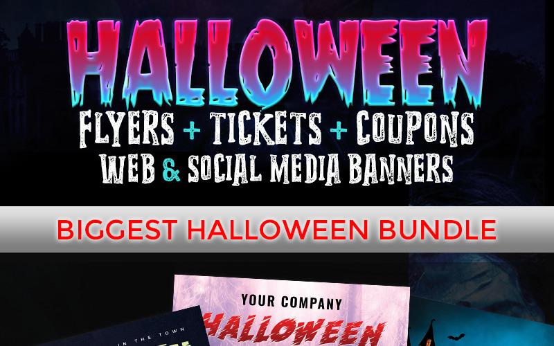 Halloween Big Bundle - - Corporate Identity Template