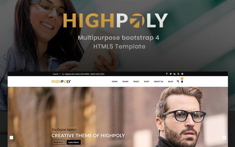 Highpoly - Modèle de site Web de commerce électronique polyvalent et réactif