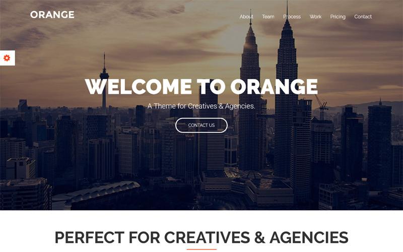 Orange - One Page Bootstrap WordPress Teması