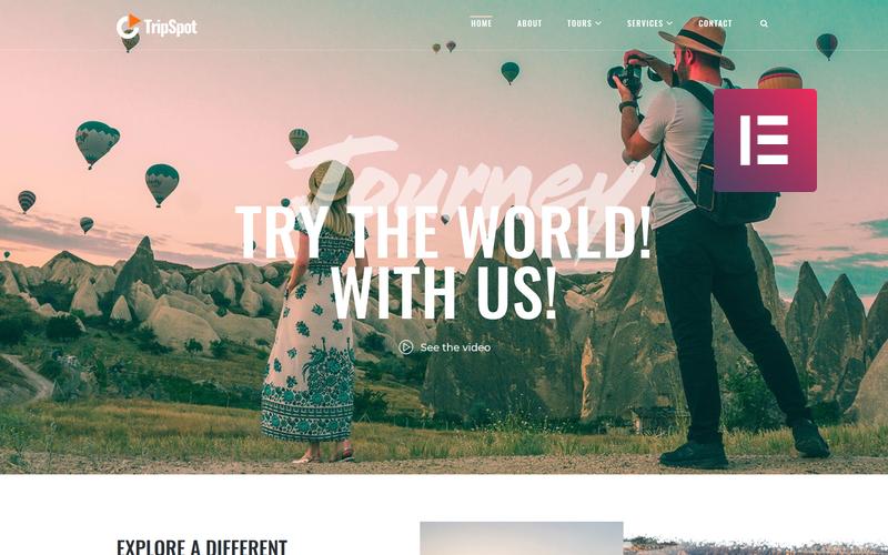 TripSpot - тема WordPress для путешествий Elementor