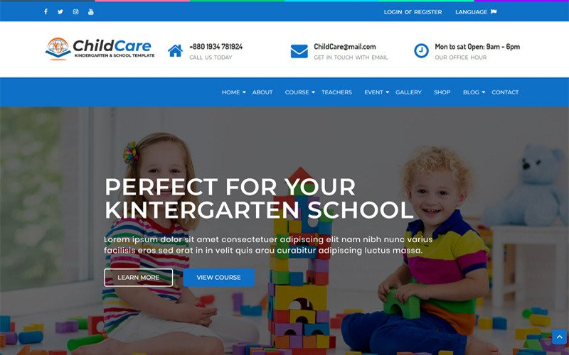 ChildCare - Kindergarten & School HTML Website Template