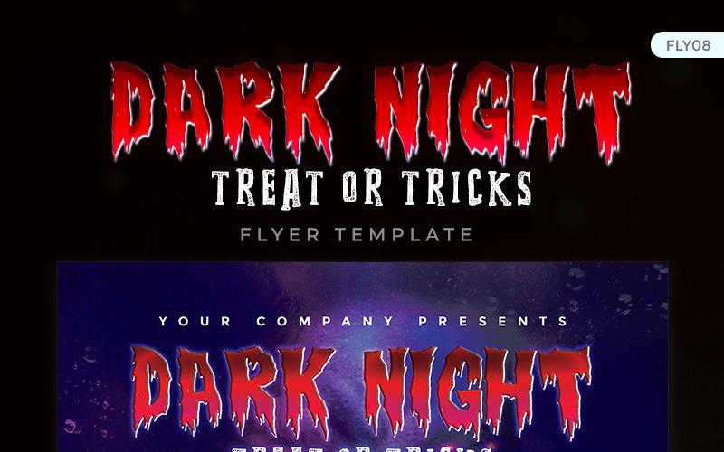 Dark Night - Halloween Party Flyer Design - Corporate Identity Template