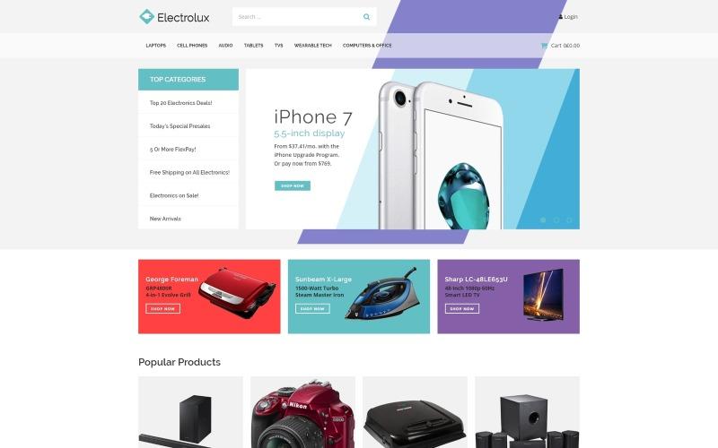 Electrolux - Тема для магазина электроники Elementor WooCommerce