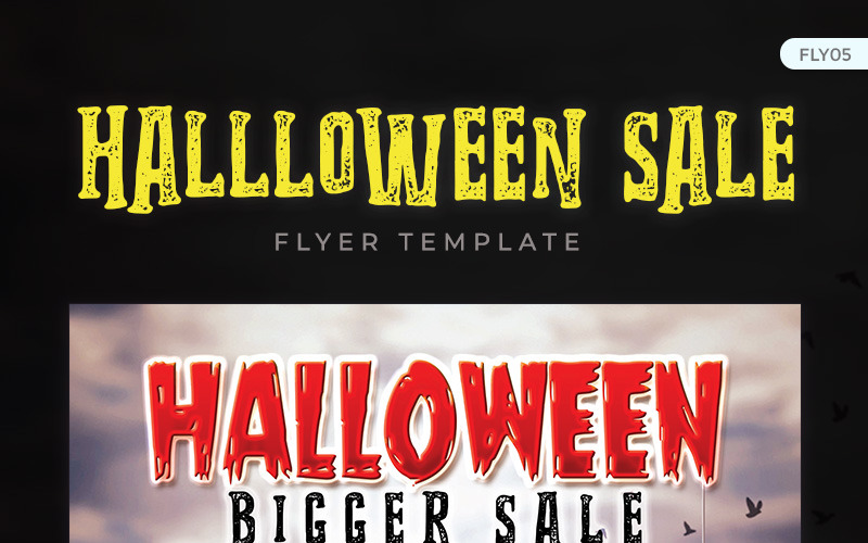 Halloween Bigger Sale Flyer - Corporate Identity Template