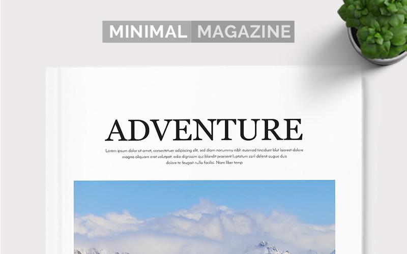 Minimální časopis Indesign - šablona Corporate Identity
