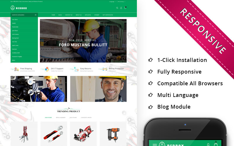 Redbox - Automobile Shop Premium OpenCart Template