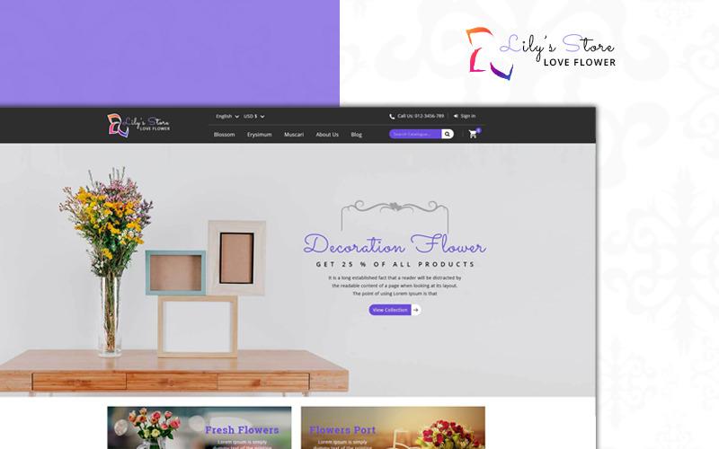 Тема PrestaShop для цветочного магазина Лили