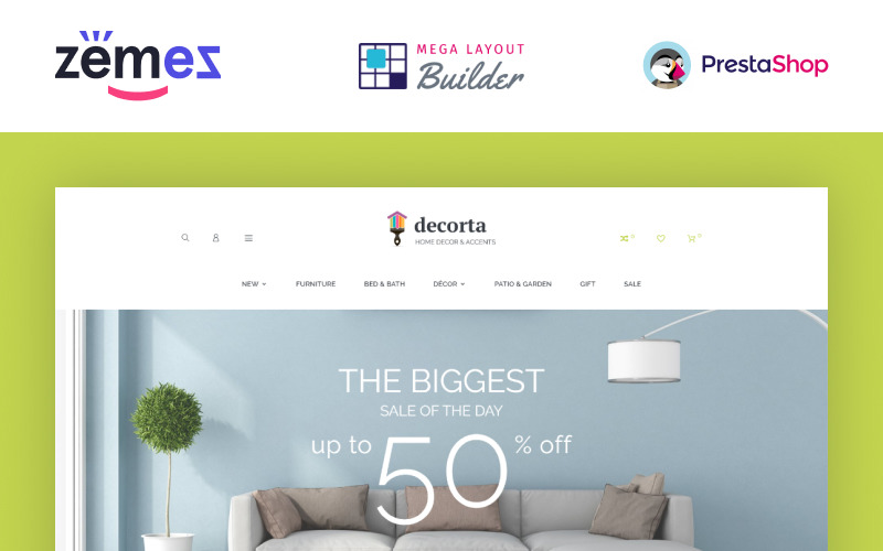 Decorta - Tema de PrestaShop para tienda de muebles