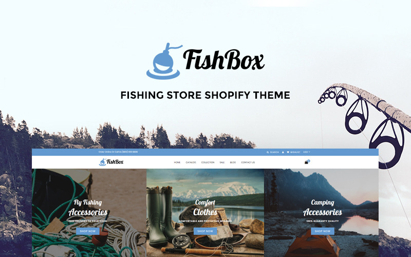 FishBox - Attractive Fishing & Hunting Store Shopify Theme
