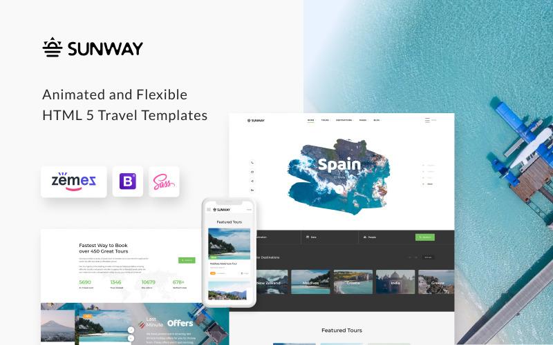 Sunway - Cestovní agentura Víceúčelová šablona webových stránek HTML