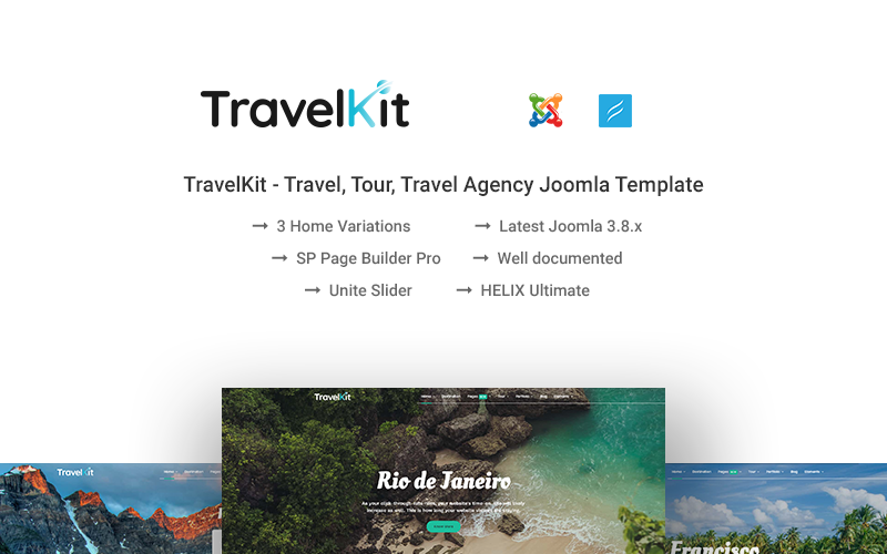 Шаблон Joomla TravelKit