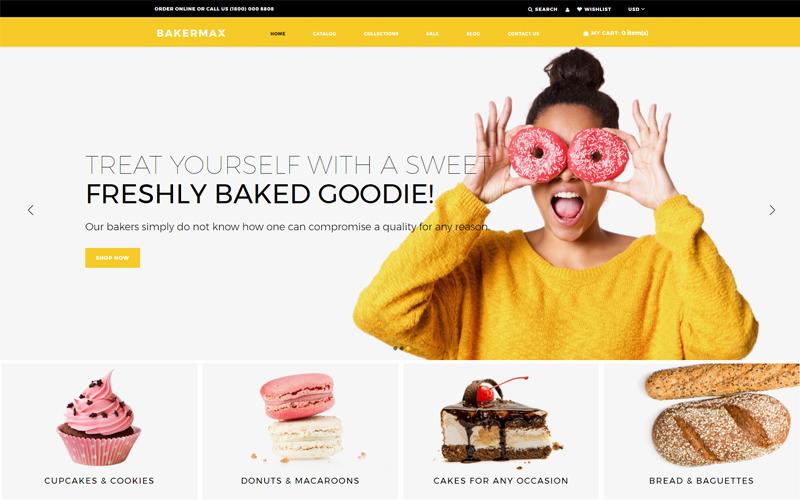 Bakermax - Shopify Тема для кондитерских