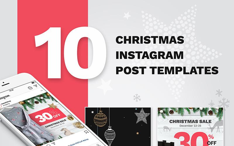 10 Christmas Instagram Post Templates for Social Media